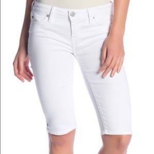 Hudson Viceroy White Knee Length Jean Shorts NWT